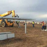 Early stages of construction on the 130-acre solar farm.