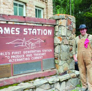 Alex Shelley of SMPA at the Ames Hydroelectric Plant.