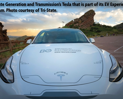 Consumer-members can test drive this Tesla electric vehicle